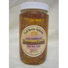 1 lb. Honey Jar with Comb (A.K.A Chunk Honey)